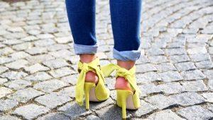 Желтые босоножки