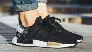 Черные кроссовки Adidas