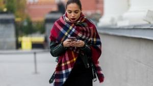 Как завязать шарф-палантин?
