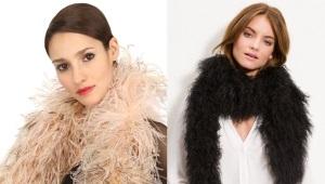Боа – эффектный шарф из перьев