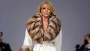 Пальто с соболем