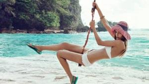 Женские сланцы для пляжа