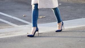 Сине-черные туфли