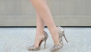 Туфли из змеиной кожи