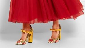 Туфли с ремешком на каблуке