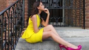 Женские туфли цвета фуксии