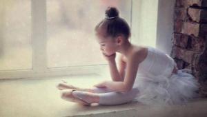 Детский купальник для танцев с юбкой