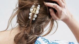 Краб - популярная заколка для волос