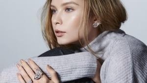 Серьги с бриллиантами из белого золота