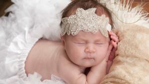 Повязки на голову для новорожденных девочек