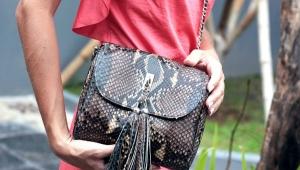 С чем носить сумки из питона?