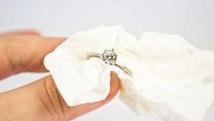 Как правильно чстить белое золото с бриллиантами?