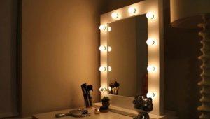 Изготовление зеркала для макияжа с подсветкой своими руками