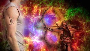 Стрелец и Скорпион: особенности союза стихий Огня и Воды