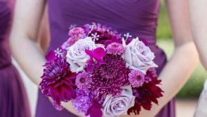 Фиолетовый букет невесты: лучшие сочетания и советы по выбору
