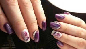Фиолетовый маникюр: особенности цвета и стильные идеи
