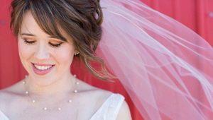 Идеи для свадебных причесок с фатой на короткие волосы
