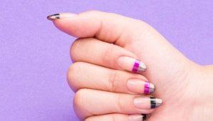 Идеи двойного френча на ногтях