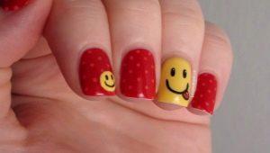 Идеи красивого оформления ногтей со смайликами