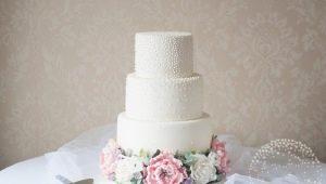 Идеи оформления тортов на жемчужную свадьбу