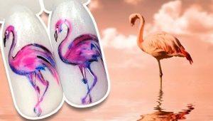 Как сделать стильный маникюр с фламинго?