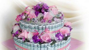 Как сделать торт из денег на свадьбу своими руками?