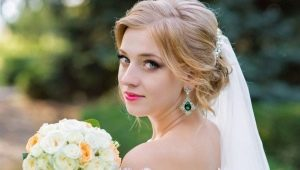Свадебные прически с фатой на средние волосы: какие бывают и как их сделать?