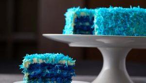 Свадебный торт в синем цвете: символика и интересные варианты