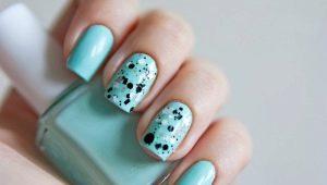 Варианты дизайна ногтей мятного цвета