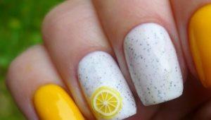 Яркие и оригинальные идеи дизайна маникюра с лимонами
