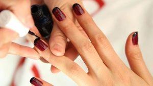 Идеи оформления темного френча на ногтях