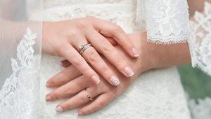 Идеи свадебного дизайна маникюра для наращенных ногтей
