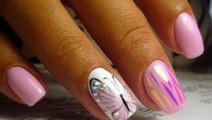Как нарисовать бабочку на ногтях?