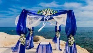 Как оформить свадьбу в синем цвете?