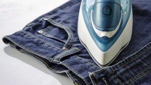 Как правильно гладить джинсы?