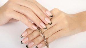 Оформление французского маникюра на круглых ногтях