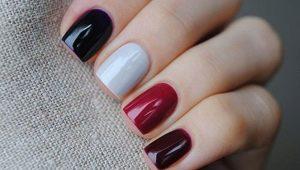 Разноцветный дизайн ногтей на одной руке: каждый ноготок индивидуален