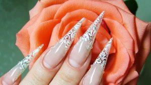 Стильный дизайн ногтей в форме пики и техника их создания