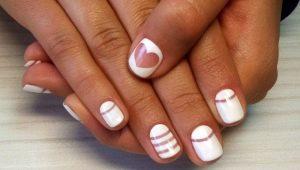 Белый шеллак в дизайне ногтей