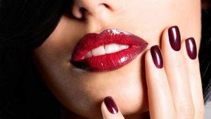 Идеи для оформления ногтей бордовым гелем-лаком