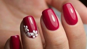 Идеи красного маникюра для коротких ногтей
