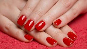 Как сделать красивый красный маникюр шеллаком?