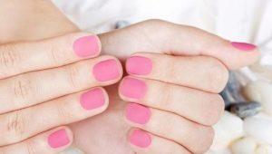 Розовый цвет в маникюре шеллаком