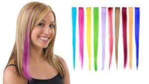 Как выбрать цветные пряди на заколках для волос?