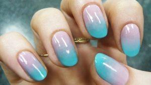 Особенности маникюра омбре на коротких ногтях