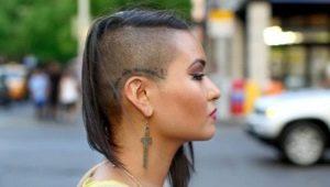 Женские стрижки с выбритыми висками