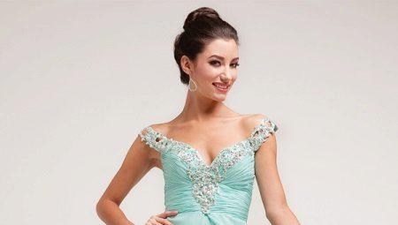 Вечернее платье мятного цвета