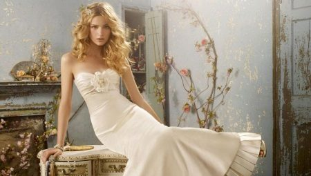Свадебное платье цвета айвори