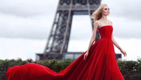 Красные вечерние платья