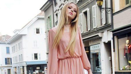 5bc62e93835 Персиковое платье – для нежного образа